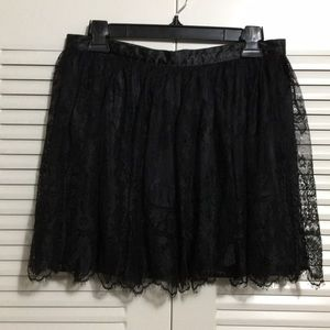 Divided By H&M Black Lace Skirt Size 12